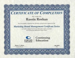 Marketing Brand Management Cert